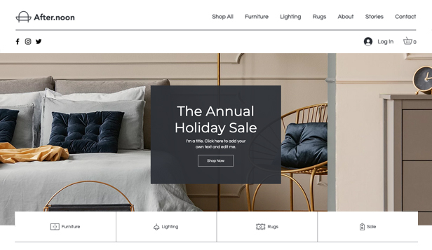 Novinky website templates – Online Home Goods Store