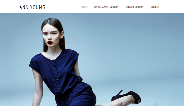 Mode-Design website templates – Fashiondesigner-Portfolio