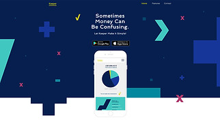 Landing Pages website templates - Mobile App