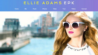Music Promotion website templates - Press Kit - Pop Singer
