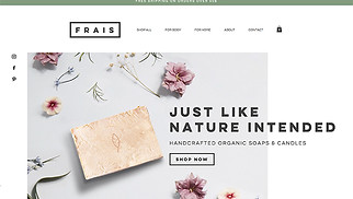 Online Store website templates - Natural Soap and Candle Store