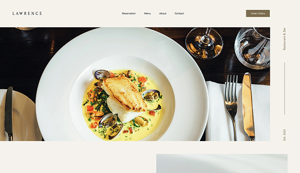 Vše website templates – Restaurant Website