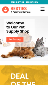 Zwierzęta - w tym domowe website templates – Pet Supplies Store