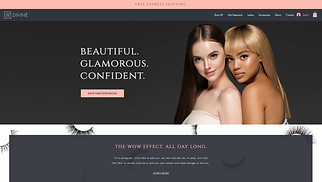 Online Store website templates - Hair Extension & Lash Store