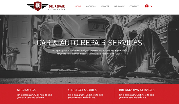 Automobilismus a auta website templates – Mechanik