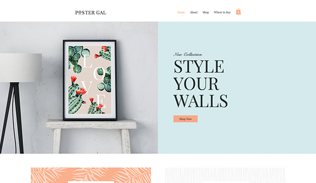 Thuis en decor website templates – Posterwinkel