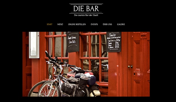 Bar & Klub website templates – Kneipe und Bar