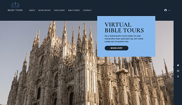 Communities website templates – Virtual Bible Tours