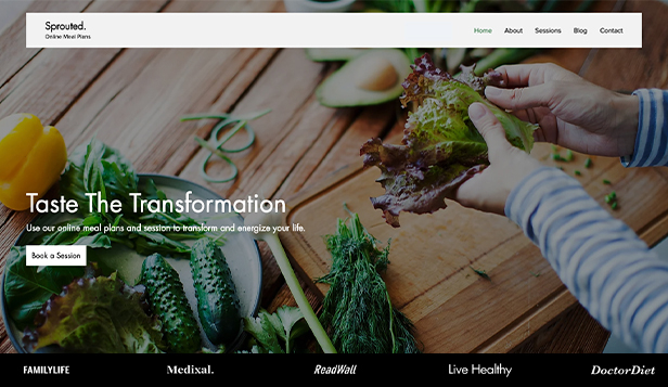 NOVINKY! website templates – Online Meal Plans