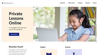 Education website templates - Online Lessons