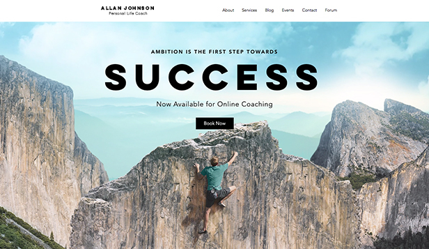 Portfolio i CV website templates – Coach sukcesu