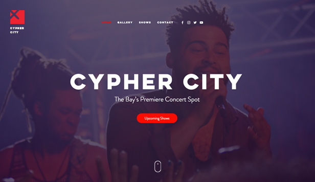 Muziek website templates – Concert