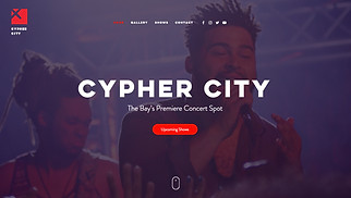 Music Industry website templates - Concert Venue