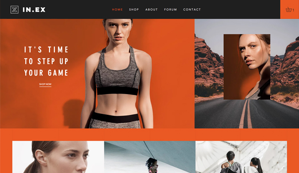 Sport en outdoor website templates – Sportkleding voor dames