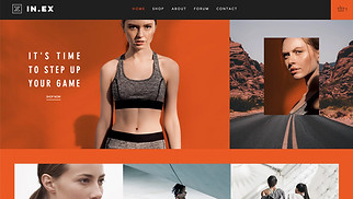 Sports & Outdoors website templates - Women's Sportswear