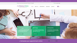 Health & Wellness website templates - Medical Clinic