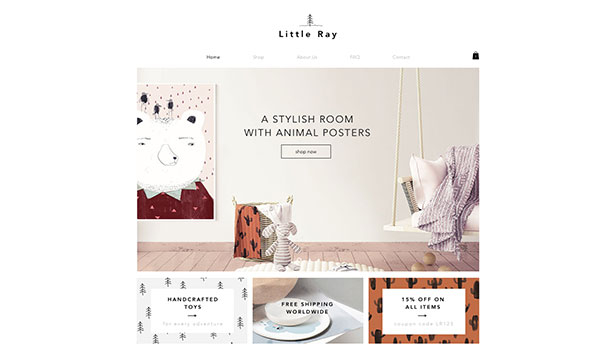 Barn og baby website templates – Barnenettbutikk