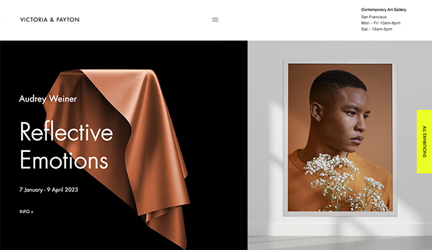 Templates de site web pour Arts visuels - Galerie d'art contemporain