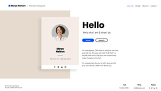 All website templates - Personal Resume
