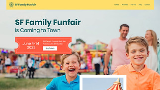 Events website templates - Funfair