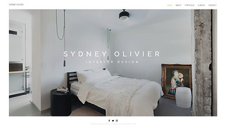 Portfolios website templates - Interior Designer
