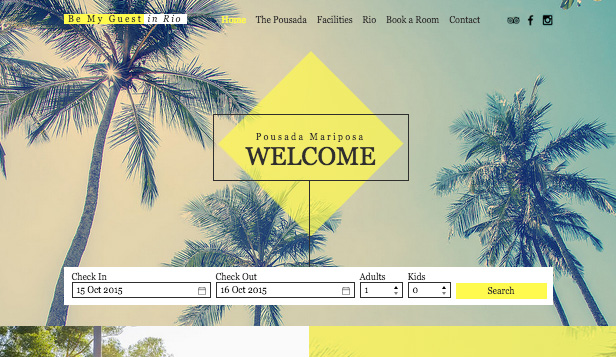 Daireler ve Hosteller website templates – Rio Pousada