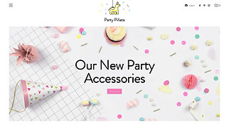 Arts & Crafts website templates - Party Accessories Store