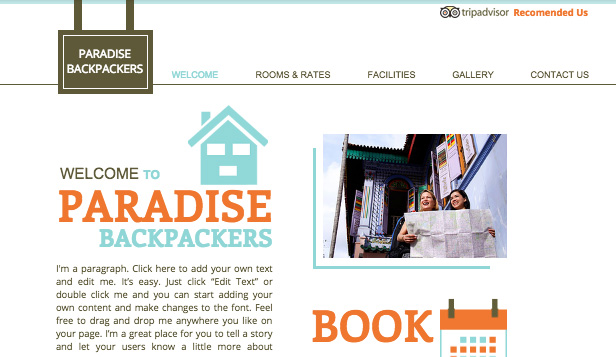 Daireler ve Hosteller website templates – Hostel