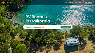NEW! website templates - RV Rentals