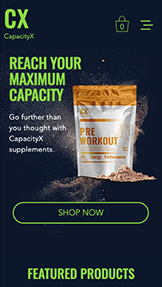 Essen & Trinken website templates – Sports Nutrition Store