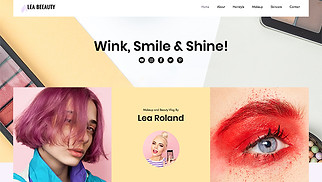 Vlog website templates - Beauty Vlog