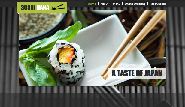 Templates de site web pour Restaurants - Sushi bar