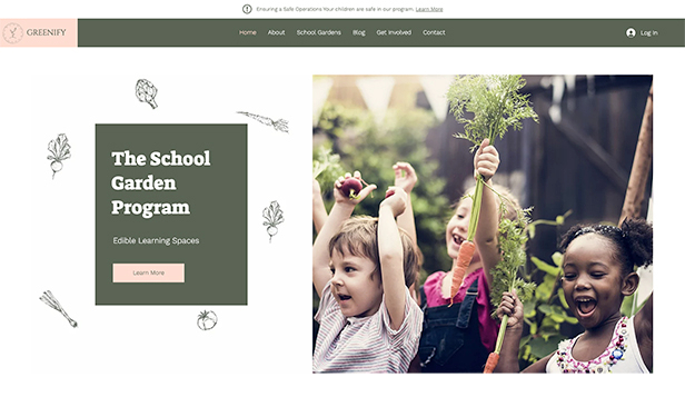 Scholen en universiteiten website templates – Schooltuinen