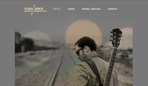 Cantores e músicos website templates – Compositor