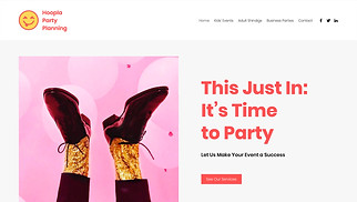 Events website templates - Party Planner