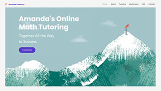 Education website templates - Private Tutor