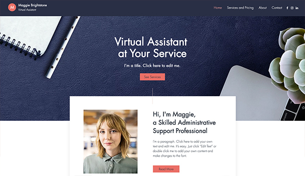 Templates de site web pour Travaux et Rénovations - Assistant(e) virtuel(le)