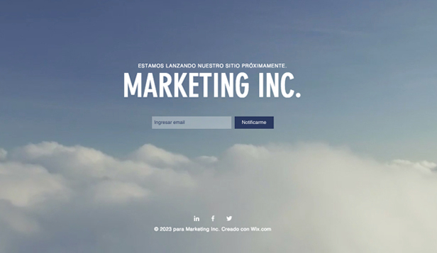 Comunicación y Marketing plantillas web – Landing page
