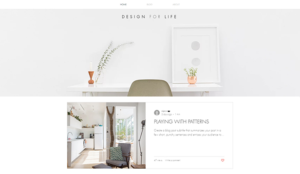 Design website templates – Blogg og podkast om stil og design