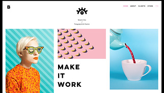 Portfolios website templates - Photographer & Art Director