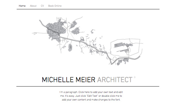 Portfolio & Lebenslauf website templates – Architekt-Portfolio