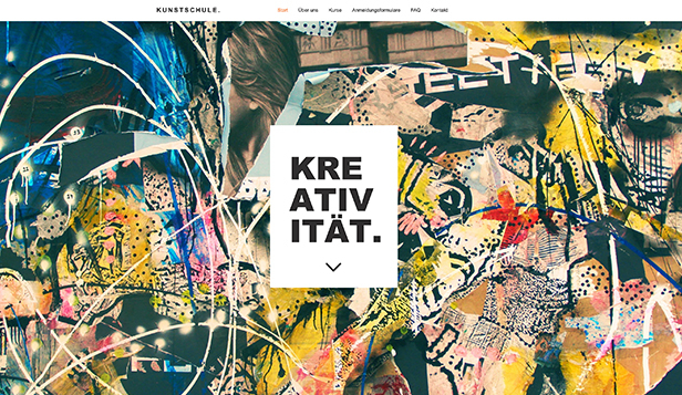 Kreative Künste website templates – Kunstschule