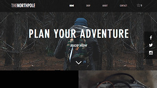 Sports & Outdoors website templates - Outdoor Bags