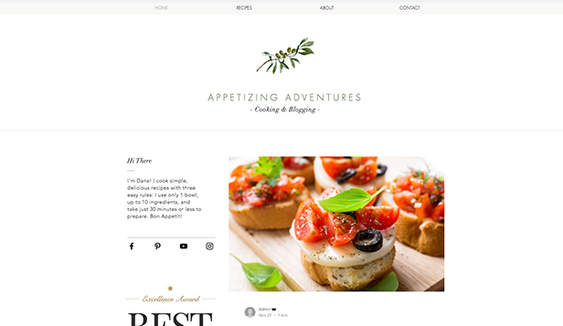 Essen & Reisen website templates – Rezeptblog