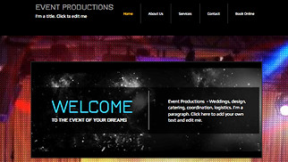Music Industry website templates - Events Production