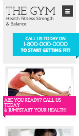Sport et fitness website templates – Salle de Sport