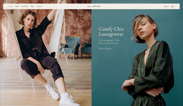 Moda ve Giyim website templates – Loungewear Store
