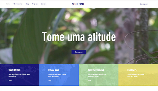 Comunidades website templates – ONG ambiental