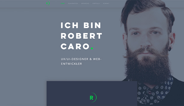 Design website templates – UX/UI Designer-Lebenslauf