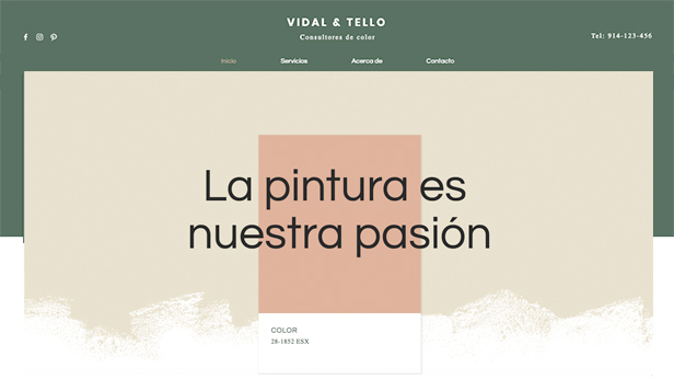 Todas plantillas web – Consultores de color